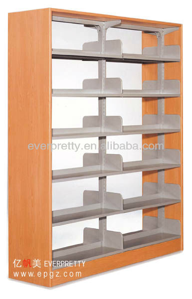 Stainless steel knock down library product vintage iron/metal bookshelf/bookcase furniture