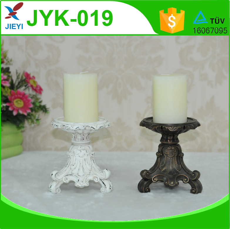 New design luxury table shape resin candle holder for home decoration