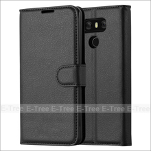 Lichee Wallet PU Leather Phone Case Back Cover With Card Slots For LG G6