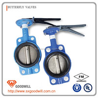 cast iron double eccentricity butterfly valve