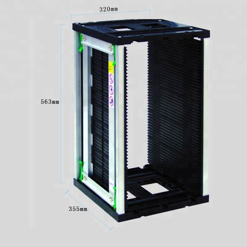 ES15105 High Quality Pcb Storage Racks Adjustable Metal ESD Magazine Rack for PCB Storage