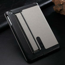 2013 Hot selling armband high quality book style leather pu cases for ipad mini