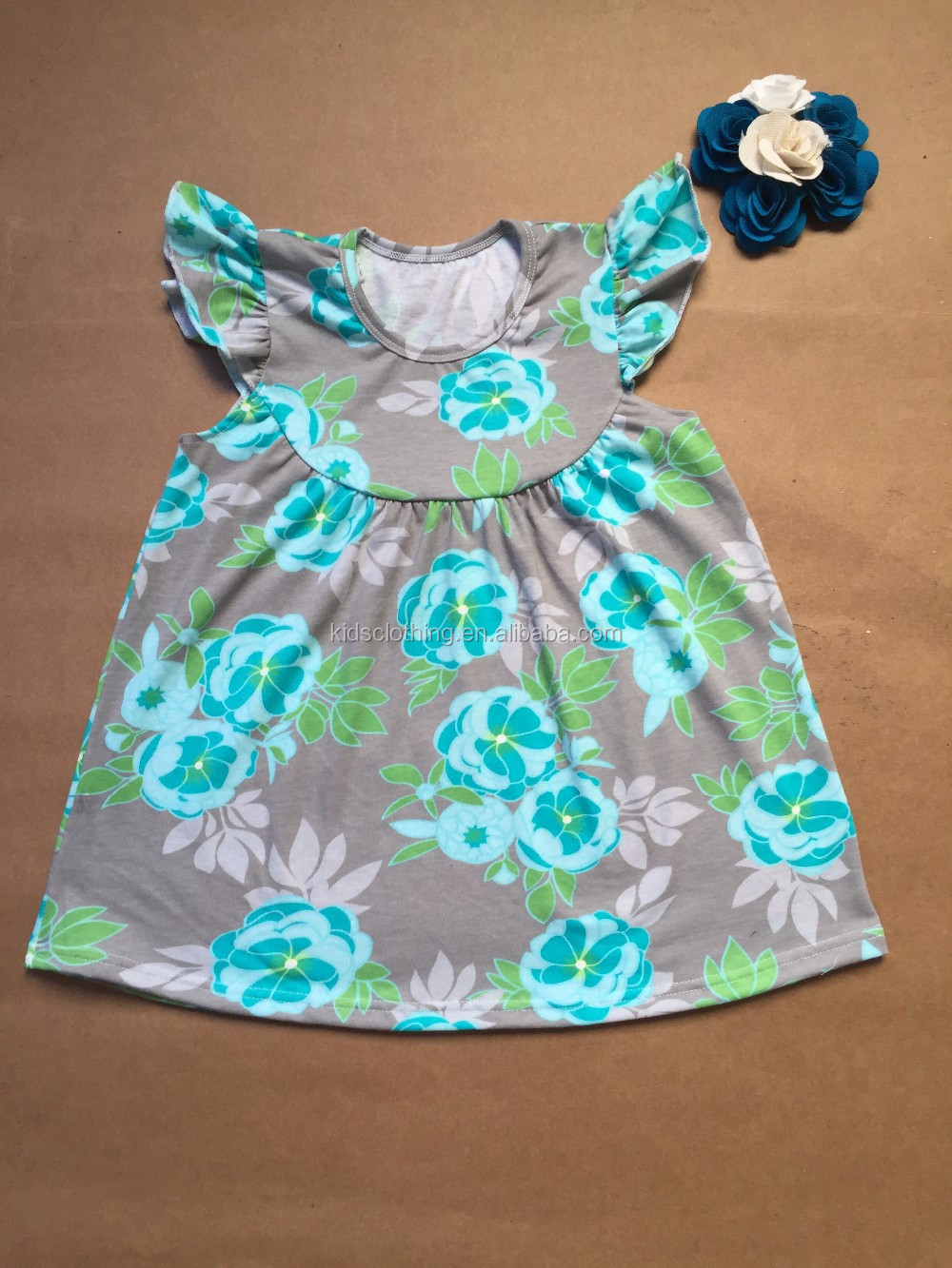 New arrival unique frocks latest party wear dresses for girls ruffle ...