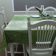 leaves design heavy high quality yarn dyed custom table cloth