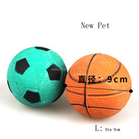 Good quality stylish dog toy solid ball basketball marbles bear dog toy