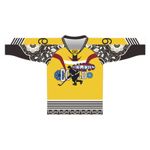 Factory Custom Service Cheap Custom Made 100% Polyester Digital Sublimation Print Ice Hockey Jersey