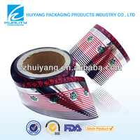 FDA certificated laminated plastic de metallized foil packaging film for candy