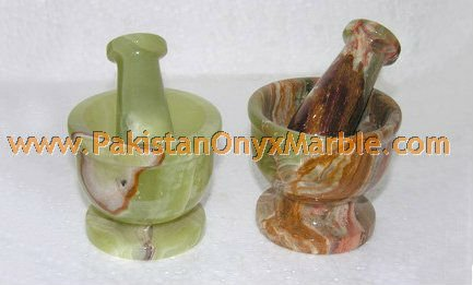 CUSTOM SIZE ONYX MORTAR AND PESTLE HANDICRAFTS
