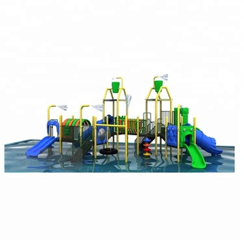 Commercial Large outdoor water park slide playground equipment