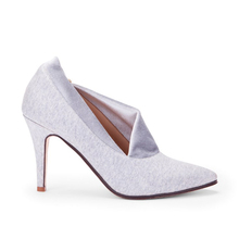 Grey Elegant Covered Daily Upper Ladies Office Shoes