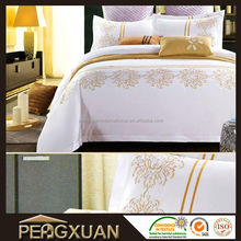 Hotel cotton fabric fashion bed linen and bed sheet