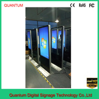 Play virtual game on digital signage lcd display interactive AR ultra clear 42 inch touch screen kiosk