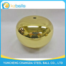 drilled oval ellipse 90 100 120mm brass sphere hollow balls