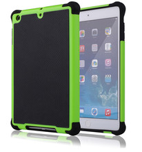Heavy Duty Hybrid Rugged Rubber Hard Case 2 in 1 tablet case, cases for IPad