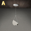 Contemporary designer design simple suspension iron folded paper shape 12 volt led pendant lights/hanging lamp for home