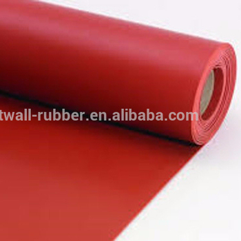 3mm thickness high quality fabric smooth surface natural rubber sheet