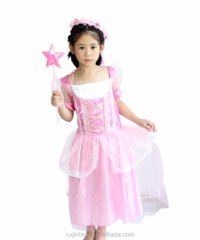 Cinderella Cospay Dress In Tv & Movie Costume New Design Pink Color Princess Dress Designs