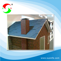 high quality red asphalt shingles for roofing