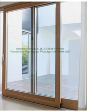 Easy Sliding Solid Timber Door With Built-in Magnet Blinds