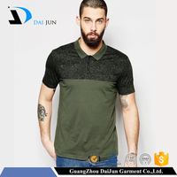Daijun OEM Breathable men rib collar double mercerized cotton polo shirt