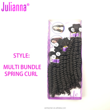 high quality diana synthetic hair multi bundle spiral curl hair weave durable 14inch 16inch 18inch 6pcs