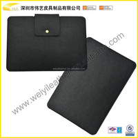 2015 Hot Selling Tablet Case High Quality Fashion Cheap Black Leather Tablet Case Felt Material Pouch For Ipad