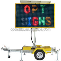 Solar Power mobile trailer led screen for traffic and advertising