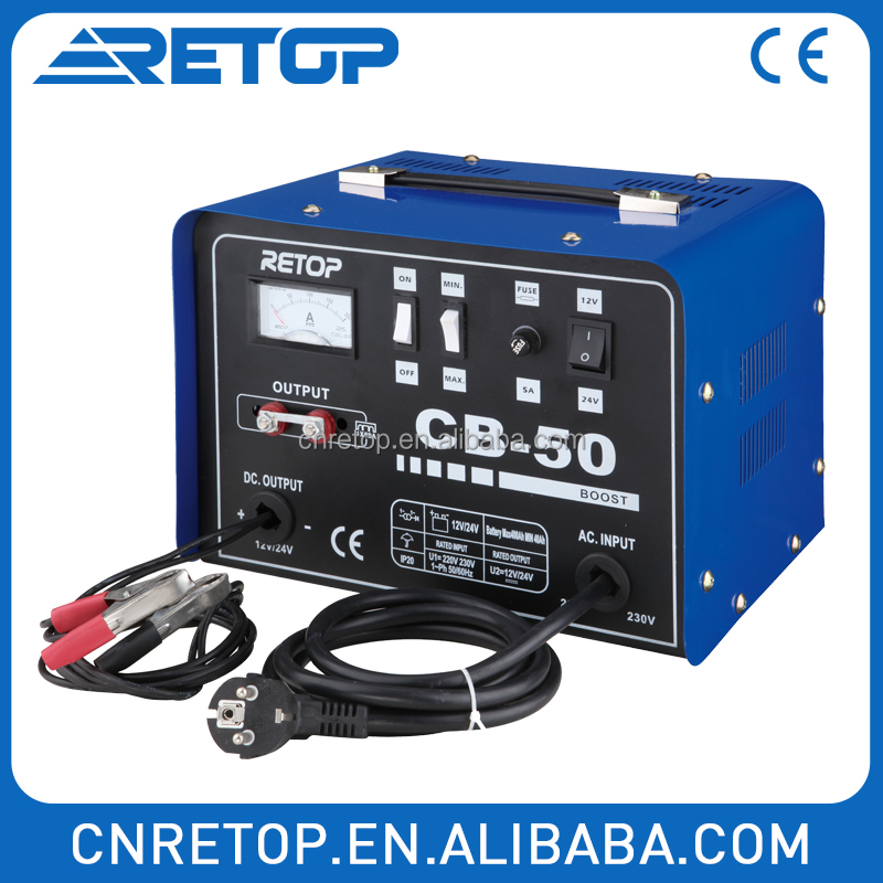 Slow charge and boost charge more selectable CB-40 battery charger