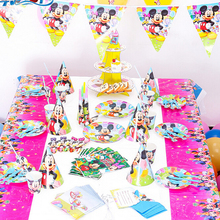 Classic Mickey theme Party Decorations Cartoon themed Tableware Birthday Supplies Party Set for baby boy girl