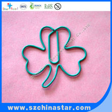 could past EN71 ROSH REACH TEST flower shape paper clip special shaped paper clips