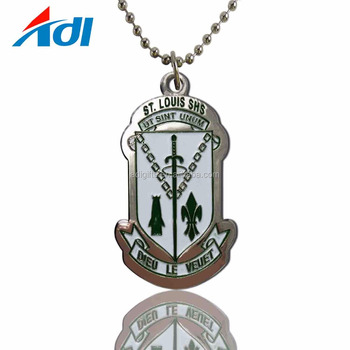 2019 Wholesale custom cheap engraved metal military dog tag