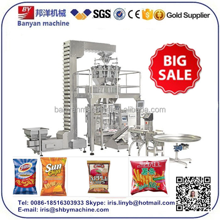 2017 On Sale! Low Price High quality automatic food potato chips chip snack packing machinery