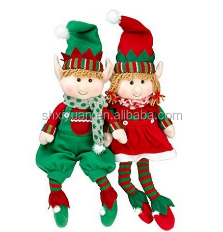 Christmas decoration elf cute elf wholesale plush toys elf doll toys