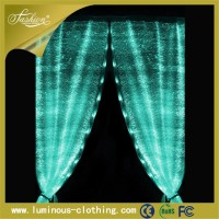 hot fiber optics fabric luminous elegant hotel curtain design for living room