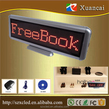 295x110x21mm rechargeable digital signage Seat brand desktop screen glow brand name CARDS conference meeting LED desktop display