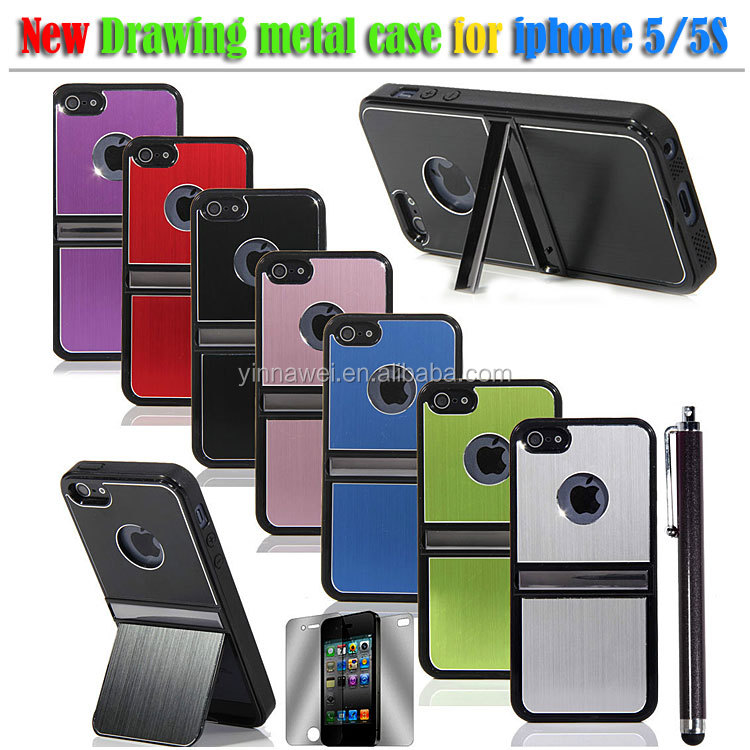 Hot selling bracket phone case / cell phone accessories for iphone 5 sublimation phone case