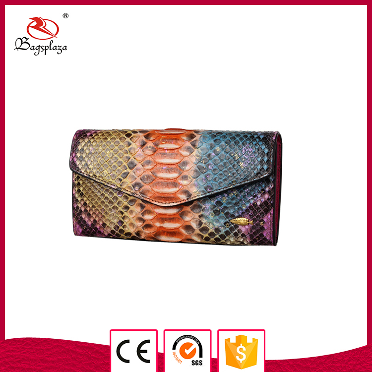 Alibaba china colorful snake material wallet the important envelop wallet