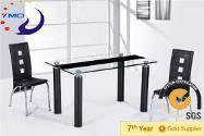 simple and elegant dining table set/cheap restaurant tables and chairs/dining table with steel leg