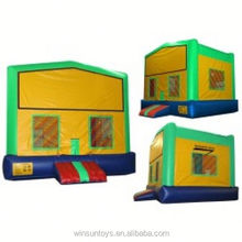 Commercial Inflatable Green and Yellow with Changeable Banner bouncing castle,bouncy castle,jumping castle