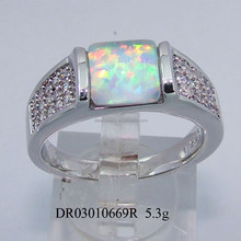 Cheap Wholesale Fashion 925 Sterling Silver Ring Unique Opal Jewelry