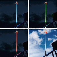 Outdoor Beach Sport Light 1.5m 1.8m 4'/5'/6'ft SUV LED Safety Flag Light For ATV,Truck,Car With White,Blue,Red