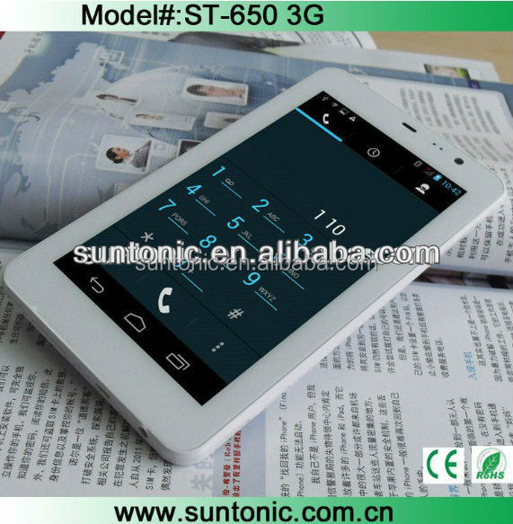 "6.5"" MTK 6572 dual sim card super slim tablet phone"