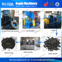 Factory Sell Rubber Production Line Of Used Tire Recycling Machine