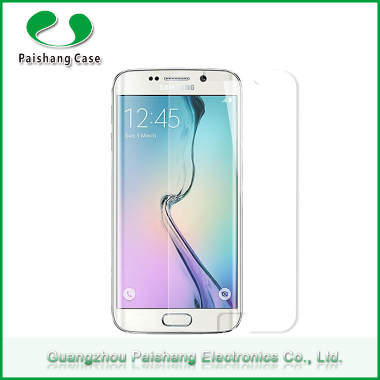 Cell phone screen protector 2.5D ultra thin 9H hardness smart tempered grass protector glass for Samsung galaxy s6 edge