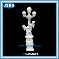 cheap outdoor decorative Carved Marble Lamp Post