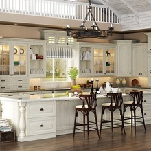 Latest European Style Solid Wood Apartment Kitchen Cabinet Units