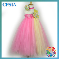 Flower Kids Chiffon Fluffy Tutu Maxi Dress Girls Frock Patterns Lovely Colorful Pageant Dresses Girl Boutique Clothing USA Bulk