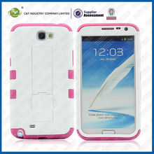 C&T silicone and plastic hard back cover case for samsung galaxy note 2 n7102