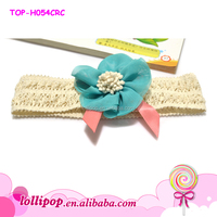 2015 hot sale flower infant headband cotton custom headband