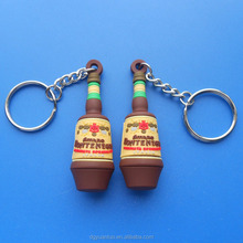 Promotional soft PVC 3D keychain / Plastic keyring / rubber PVC keychains